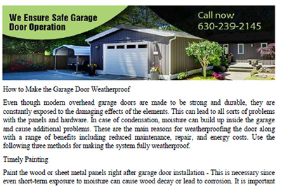 Manuals Garage Door Repair Lombard Il